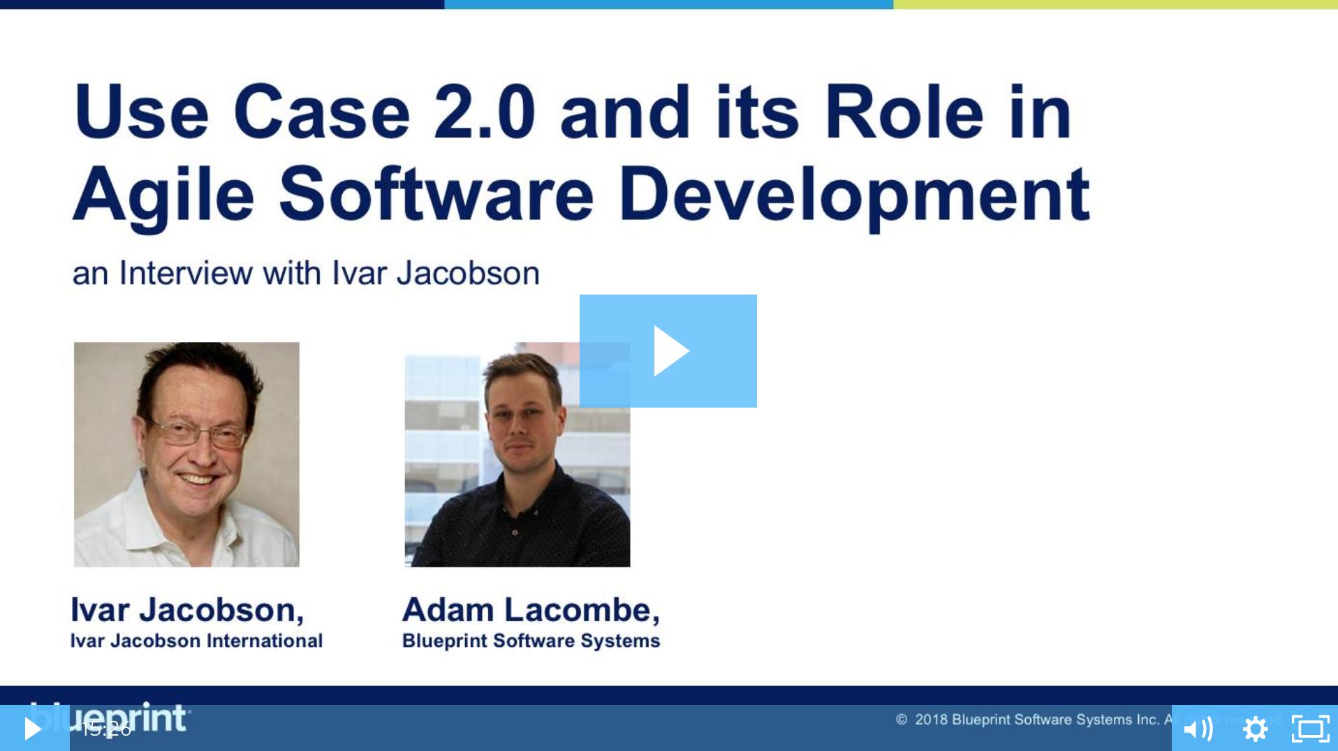 Ivar Jacobson on Use Case 2.0